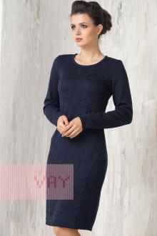 Платье женское 2270 Фемина (Темно-синий)