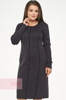 Платье женское 182-2312 Фемина (Черный/графит)