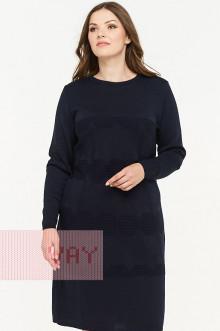 Платье женское 182-2309 Фемина (Темно-синий)
