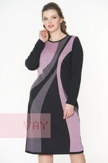 Платье женское 182-2308 Фемина (Черный/камелия/графит)