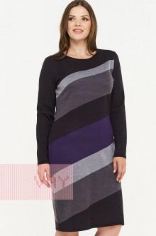 Платье женское 2294 Фемина (Мокрый асфальт/графит/стальной/фиолетовый)