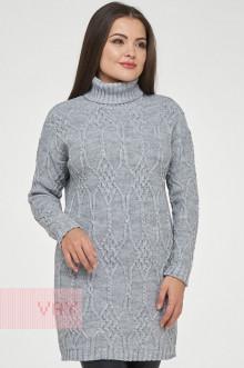 Туника женская 182-4748 Фемина (Светло-серый меланж)