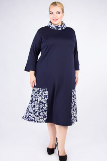 """Платье """"Артесса"""" PP71006DBL02 (Темно-синий)"""