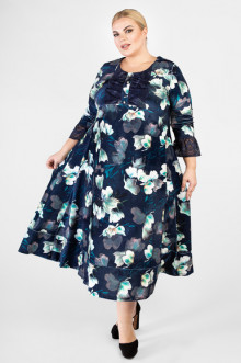 """Платье """"Артесса"""" PP34211FLW05 (Темно-синий)"""
