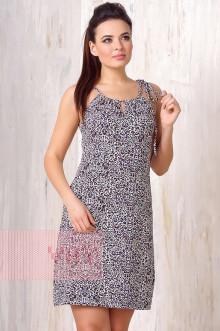 Платье женское 3184 Фемина (Леопард темное молоко)