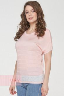 Джемпер женский 191-4900 Фемина (Бледно-розовый/пайетки молоко)