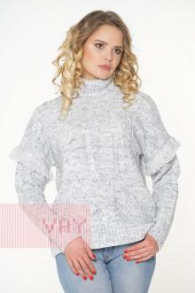 Свитер женский 182-4648 Фемина (Серый меланж)