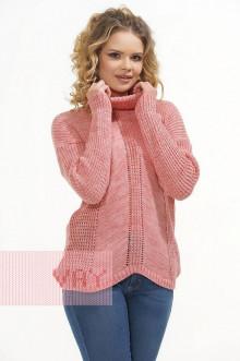 Свитер женский 4610 Фемина (Розовый меланж)
