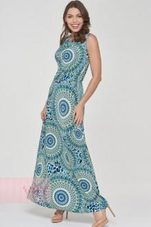Платье женское 191-3510 Фемина (Узор голубой)