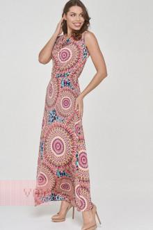Платье женское 191-3510 Фемина (Узор розовый)