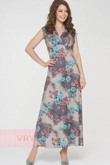 Платье женское 191-3509 Фемина (Армерия бирюзовый)
