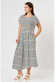 """Платье """"Лина"""" 52137 (Белый, принт)"""