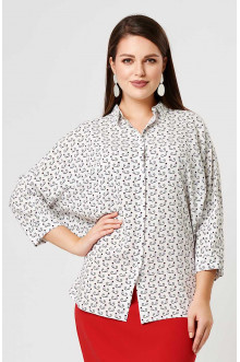 """Блуза """"Лина"""" 4190 (Белый принт 1)"""