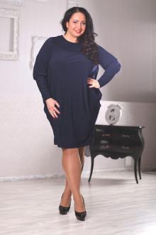 Платье 040804 ЛаТэ (Темно-синий)