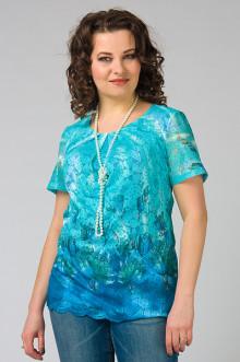 """Блуза """"СКС"""" 2791 (Голубой/бирюза)"""