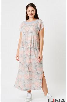 """Платье """"Лина"""" 52154 (Персиковый принт)"""