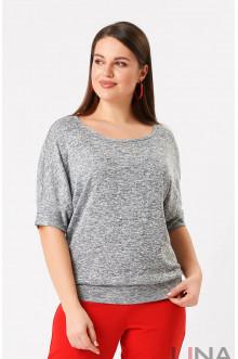 """Блуза """"Лина"""" 4195 (Серый)"""