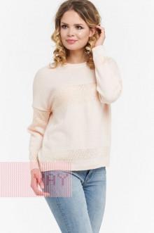 Джемпер женский 182-4736 Фемина (Нежный персик/пайетки песочный)