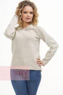 Джемпер женский 4621 Фемина (Светло-бежевый/молоко)