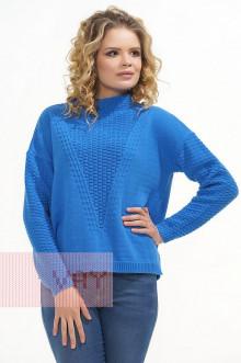 Джемпер женский 4616 Фемина (Ярко-голубой)