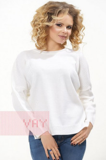 Джемпер женский 4596 Фемина (Белый)