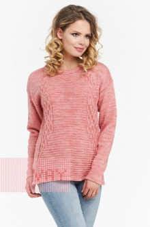 Джемпер женский 4587 Фемина (Розовый меланж)