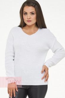 Джемпер женский 182-4735 Фемина (Белый/металнить сильвер)