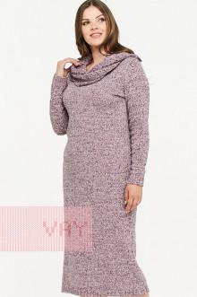 Платье женское 182-2332 Фемина (Розовая дымка/молоко/черный)