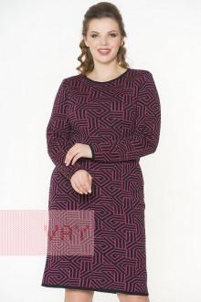 Платье женское 182-2331 Фемина (Черный/рубин)