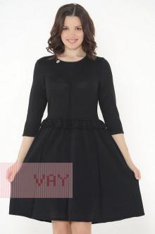 Платье женское 182-2324 Фемина (Черный/металнить черная)