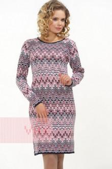 Платье женское 2317 Фемина (Темно-синий/ликер/белый)