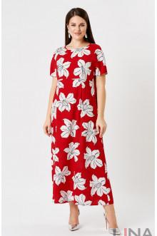 """Платье """"Лина"""" 52161 (Красный принт)"""